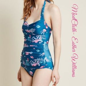 Modcloth Esther Williams One Piece Retro Swimsuit